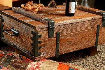 Alte Truhe Kiste Tisch shabby chic Holz Beistelltisch Holztruhe Couchtisch Länge: 81 cm Höhe: 39 cm Tiefe: 50 cm - 3