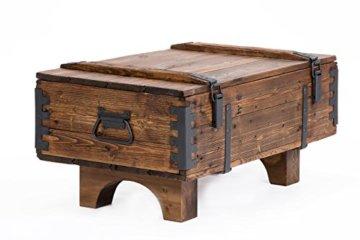 Alte Truhe Kiste Tisch shabby chic Holz Beistelltisch Holztruhe Couchtisch Länge: 81 cm Höhe: 39 cm Tiefe: 50 cm - 1