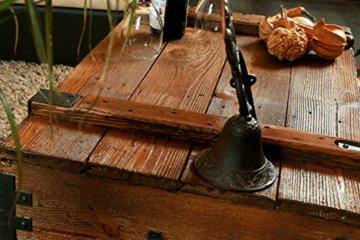 Alte Truhe Kiste Tisch shabby chic Holz Beistelltisch Holztruhe Couchtisch Länge: 81 cm Höhe: 39 cm Tiefe: 50 cm - 5