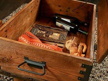 Alte Truhe Kiste Tisch shabby chic Holz Beistelltisch Holztruhe Couchtisch Länge: 81 cm Höhe: 39 cm Tiefe: 50 cm - 6