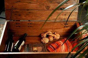 Alte Truhe Kiste Tisch shabby chic Holz Beistelltisch Holztruhe Couchtisch Länge: 81 cm Höhe: 39 cm Tiefe: 50 cm - 7
