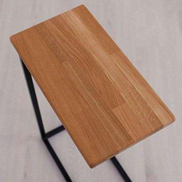 BestLoft® Beistelltisch (CSH) Laptoptisch Sofatisch Betttisch Couchtisch (Gestell schwarz+Platte hell) - 3