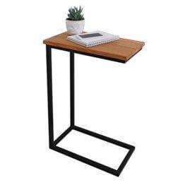 BestLoft® Beistelltisch (CSH) Laptoptisch Sofatisch Betttisch Couchtisch (Gestell schwarz+Platte hell) - 1