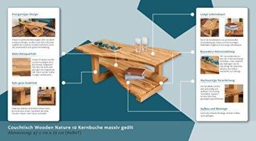 Couchtisch Wooden Nature 10 Kernbuche massiv bio geölt - Abmessung 110 x 47 x 70 cm (B x H x T) - 2