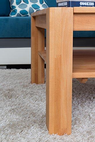 Couchtisch Wooden Nature 123 Kernbuche massiv - 80 x 80 x 45 cm (B x T x H) - 4