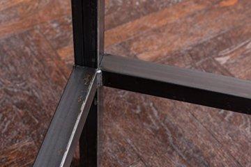 EIN Original-BestLoft® Barhocker Handmade Industriedesign Loft Stahl Holz Eiche massiv 78cm (Hell, 78cm) - 3