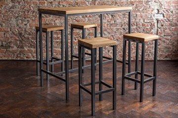 EIN Original-BestLoft® Barhocker Handmade Industriedesign Loft Stahl Holz Eiche massiv 78cm (Hell, 78cm) - 9