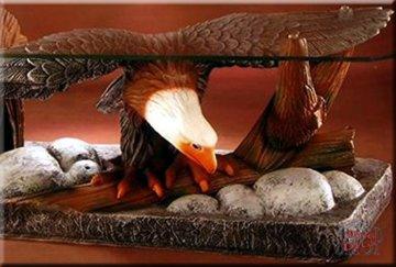 InterDecorShop Couchtisch Adler Wohnzimmertisch Tisch Glastisch ArtDeco Luxusmöbel - 2