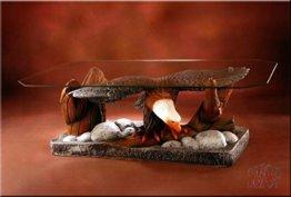 InterDecorShop Couchtisch Adler Wohnzimmertisch Tisch Glastisch ArtDeco Luxusmöbel - 1