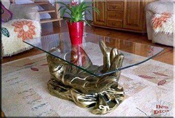 InterDecorShop Neuheit Couchtisch Hand Antik Wohnzimmertisch Tisch Glastisch Luxusmöbel - 3