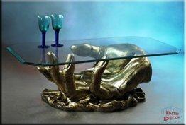 InterDecorShop Neuheit Couchtisch Hand Antik Wohnzimmertisch Tisch Glastisch Luxusmöbel - 1