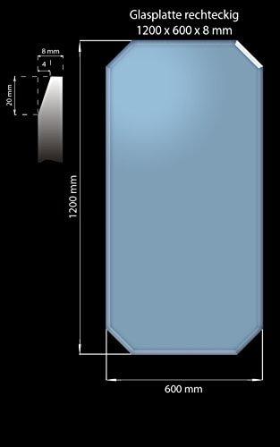 InterDecorShop Neuheit Couchtisch Hand White Wohnzimmertisch Tisch Glastisch Luxusmöbel - 5