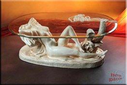 InterDecorShop Neuheit Designer Couchtisch Sexy Lady White Wohnzimmertisch Tisch Glastisch Luxusmöbel - 1