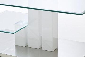 Robas Lund, Couchtisch, Wohnzimmertisch, Nils, Hochglanz/weiß, 110 x 70 x 40 cm, 58625W14 - 2