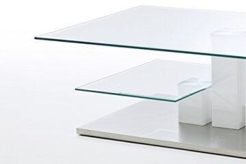Robas Lund, Couchtisch, Wohnzimmertisch, Nils, Hochglanz/weiß, 110 x 70 x 40 cm, 58625W14 - 3