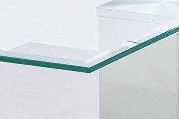 Robas Lund, Couchtisch, Wohnzimmertisch, Nils, Hochglanz/weiß, 110 x 70 x 40 cm, 58625W14 - 4