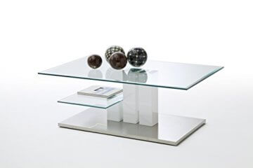 Robas Lund, Couchtisch, Wohnzimmertisch, Nils, Hochglanz/weiß, 110 x 70 x 40 cm, 58625W14 - 1