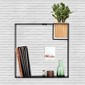 Li❶il Umbra Cubist Schwebendes Regal Mit Integriertem Pflanzentopf