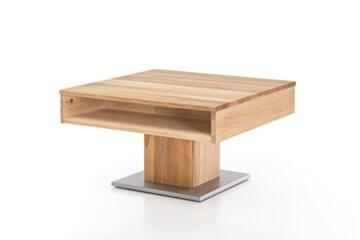 Woodlive Massivholz Couchtisch quadratisch aus Kernbuche, geölter Wohnzimmer-Tisch, Beistelltisch inkl. Schublade, Tisch 75 x 75 cm - 4
