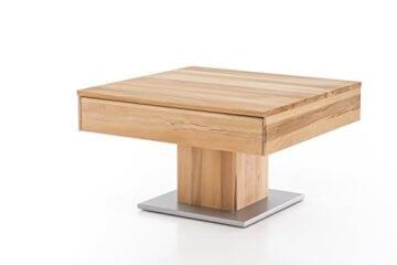 Woodlive Massivholz Couchtisch quadratisch aus Kernbuche, geölter Wohnzimmer-Tisch, Beistelltisch inkl. Schublade, Tisch 75 x 75 cm - 5