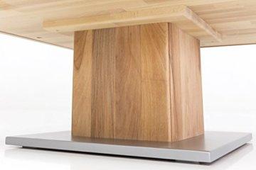Woodlive Massivholz Couchtisch quadratisch aus Kernbuche, geölter Wohnzimmer-Tisch, Beistelltisch inkl. Schublade, Tisch 75 x 75 cm - 8