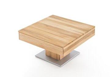 Woodlive Massivholz Couchtisch quadratisch aus Kernbuche, geölter Wohnzimmer-Tisch, Beistelltisch inkl. Schublade, Tisch 75 x 75 cm - 9