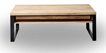 Amazon Marke -Movian Ems - Couchtisch mit Schubladen, 118x59x40cm, Kerneiche-Effekt - 2