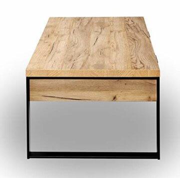 Amazon Marke -Movian Ems - Couchtisch mit Schubladen, 118x59x40cm, Kerneiche-Effekt - 8