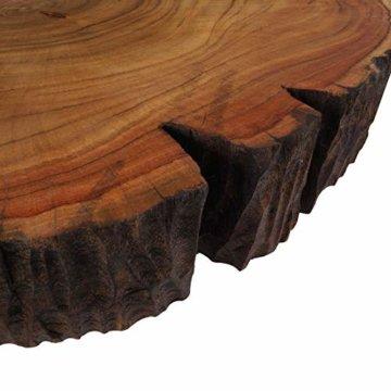 Cander Berlin MNT 0640 Beistelltisch Abstelltisch Akazie (40-45) x 45 cm Baumscheibe Metall Sofatisch Kaffeetisch Couchtisch Tisch Holz Massivholz rund Natur - 3