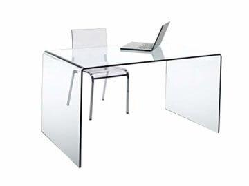 CHANDRA Schreibtisch Glas - 1