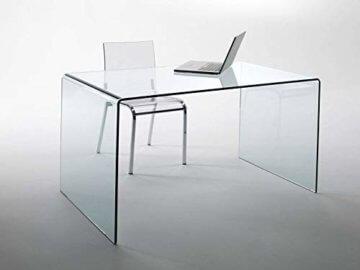 CHANDRA Schreibtisch Glas - 2