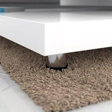 Deuba Couchtisch Hochglanz Weiß 360° Drehbar Cube Design Modern 76x76cm Wohnzimmertisch Lounge Tisch Sofatisch - 4