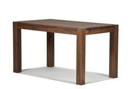 Esstisch Rio Bonito 140x80 cm, Pinie Massivholz, geölt und gewachst, Holz Tisch für Esszimmer, Wohnzimmer Küche, Farbton Cognac braun, Optional: passende Bänke und Ansteckplatten - 1