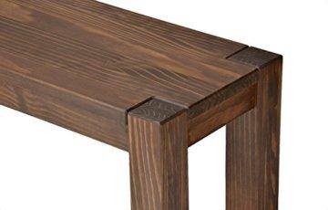Esstisch Rio Bonito 140x80 cm, Pinie Massivholz, geölt und gewachst, Holz Tisch für Esszimmer, Wohnzimmer Küche, Farbton Cognac braun, Optional: passende Bänke und Ansteckplatten - 9
