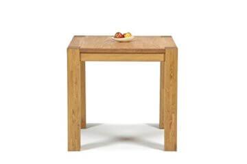 Esstisch ,,Rio Bonito,, 80x80 cm quadratisch, Pinie Massivholz, geölt und gewachst, Holz Tisch für Esszimmer, Wohnzimmer Küche, Farbton Honig hell, Optional: passende Bänke und Stühle - 3