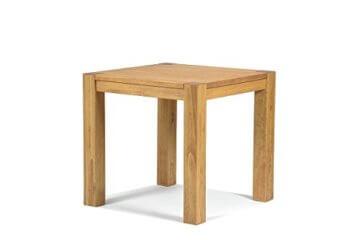 Esstisch ,,Rio Bonito,, 80x80 cm quadratisch, Pinie Massivholz, geölt und gewachst, Holz Tisch für Esszimmer, Wohnzimmer Küche, Farbton Honig hell, Optional: passende Bänke und Stühle - 1