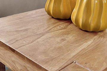 FineBuy 3er Set Satztisch Massiv-Holz Akazie Wohnzimmer-Tisch Landhaus-Stil Beistelltisch dunkel-braun Naturholz Couchtisch Natur-Produkt Wohnzimmermöbel Unikat Massivholzmöbel Echtholz Anstelltisch - 6