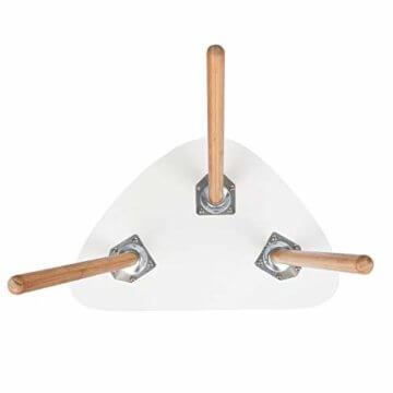 HOMFA 2x Beistelltisch weiß Couchtisch rund Wohnzimmertisch skandinavisch Kaffetisch klein Satztisch Set Groß(60x39,5x45cm),Klein(45x29,5x40cm) - 5