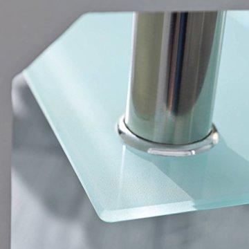 Inter Link 50100040 Couchtisch Glas Weiß Wohnzimmertisch Wohnzimmer Tisch Beistelltisch 110x60 cm - 11