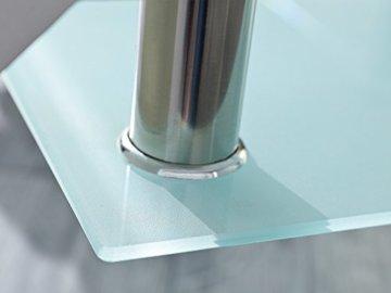 Inter Link 50100040 Couchtisch Glas Weiß Wohnzimmertisch Wohnzimmer Tisch Beistelltisch 110x60 cm - 3