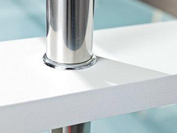 Inter Link 50100040 Couchtisch Glas Weiß Wohnzimmertisch Wohnzimmer Tisch Beistelltisch 110x60 cm - 6