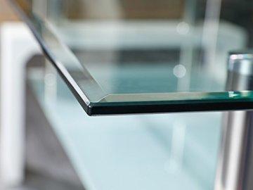 Inter Link 50100040 Couchtisch Glas Weiß Wohnzimmertisch Wohnzimmer Tisch Beistelltisch 110x60 cm - 7