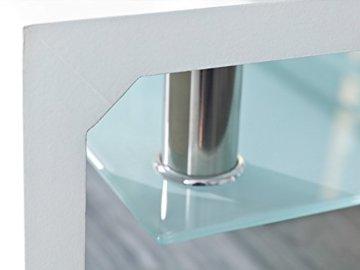 Inter Link 50100040 Couchtisch Glas Weiß Wohnzimmertisch Wohnzimmer Tisch Beistelltisch 110x60 cm - 8