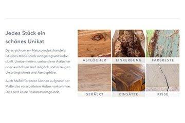 Massiver Esstisch WOTAN Akazie 160cm Massivholz Tisch Esszimmer Holztisch teakgrau gekälkt Industrial Finish - 5