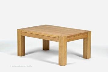Naturholzmöbel Seidel Couchtisch, Beistelltisch,Rio Bonito, 100x70cm, Höhe 60cm, Pinie Massivholz, geölt und gewachst, Tisch Farbton Honig hell - 3