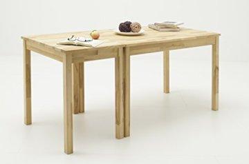 Robas Lund, Tisch, Esszimmertisch, Alfons, Kernbuche/Massivholz, 70 x 76 x 50 cm, ALF050KB - 4