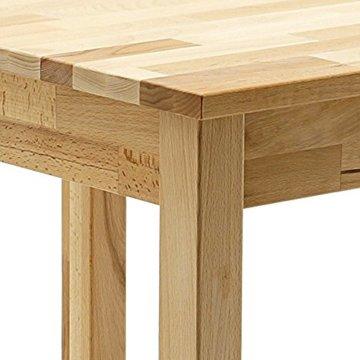 Robas Lund, Tisch, Esszimmertisch, Alfons, Kernbuche/Massivholz, 70 x 76 x 50 cm, ALF050KB - 8