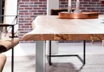 SAM® Stilvoller Esszimmertisch Quarto 160 x 85 cm aus Akazie-Holz, Tisch mit Silber lackierten Beinen, Baum-Tisch mit naturbelassener Optik - 6