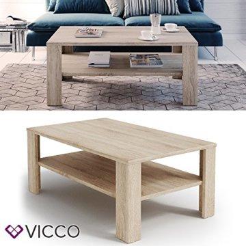 VICCO Couchtisch Sonoma Eiche 100 x 60 cm Wohnzimmertisch Beistelltisch Sofatisch Kaffeetisch - 2