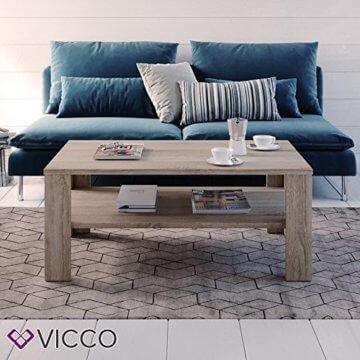 VICCO Couchtisch Sonoma Eiche 100 x 60 cm Wohnzimmertisch Beistelltisch Sofatisch Kaffeetisch - 3